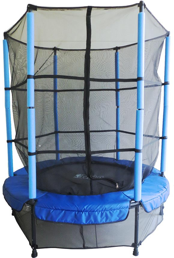 gsd kindertrampolin 140 kinder trampolin m sicherheitsnetz f r in outdoor bl ebay. Black Bedroom Furniture Sets. Home Design Ideas