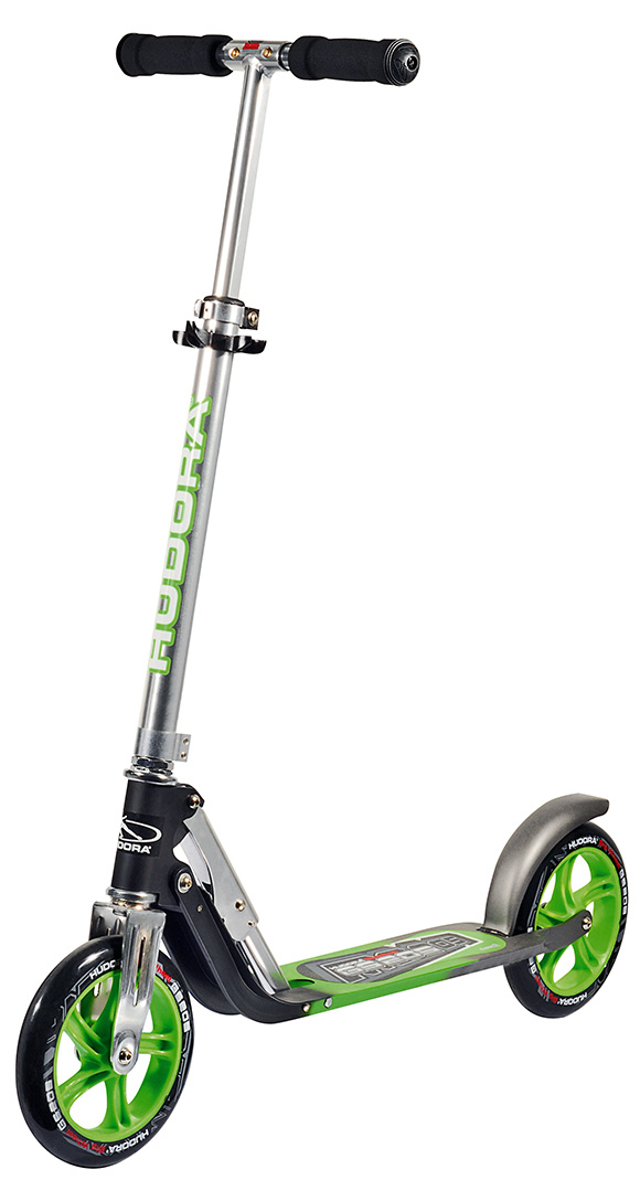 hudora big wheel gs 205 scooter roller anthrazit gr n extra gro e r der 14695 ebay. Black Bedroom Furniture Sets. Home Design Ideas