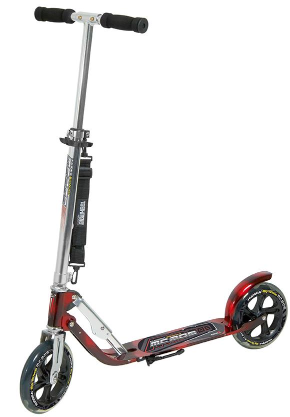 hudora big wheel mc 205 scooter roller rot schwarz extra. Black Bedroom Furniture Sets. Home Design Ideas
