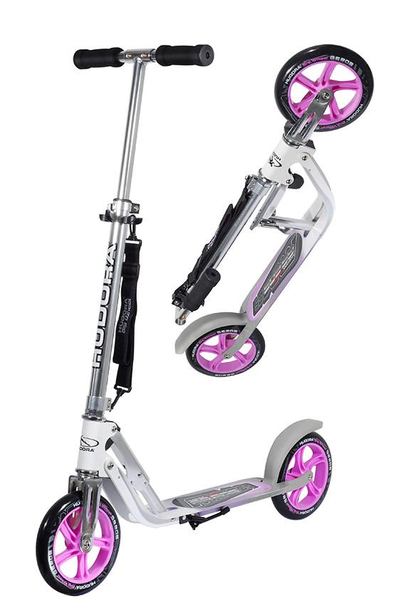 hudora big wheel 205 roller scooter pink silber 14773 ebay. Black Bedroom Furniture Sets. Home Design Ideas
