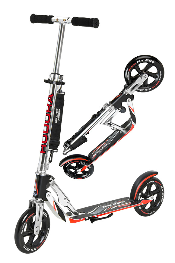 hudora big wheel rx 205 racing scooter roller extra size wheels 14724 ebay. Black Bedroom Furniture Sets. Home Design Ideas