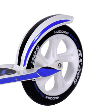 hudora big wheel rx wb 205 racing weis blau cityscooter scooter roller 14725. Black Bedroom Furniture Sets. Home Design Ideas