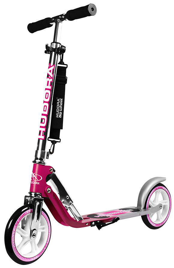 hudora big wheel 205 magenta scooter extra big wheels 14764 ebay. Black Bedroom Furniture Sets. Home Design Ideas