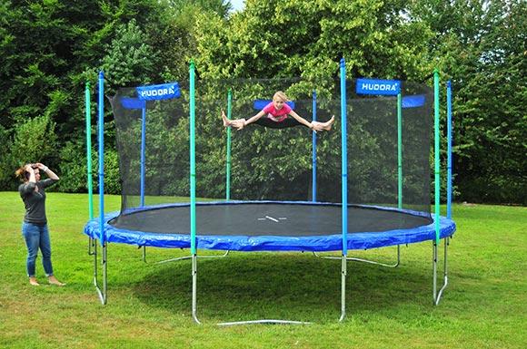 hudora 65483 trampolin blau 480 mit netz nachf v 426 ebay. Black Bedroom Furniture Sets. Home Design Ideas