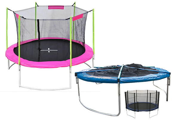 trampolin mit netz angebote auf waterige. Black Bedroom Furniture Sets. Home Design Ideas