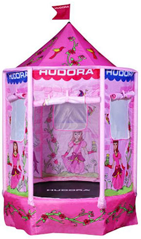 hudora kindertrampolin princess 140 kinder trampolin mit sicherheitsnetz ebay. Black Bedroom Furniture Sets. Home Design Ideas