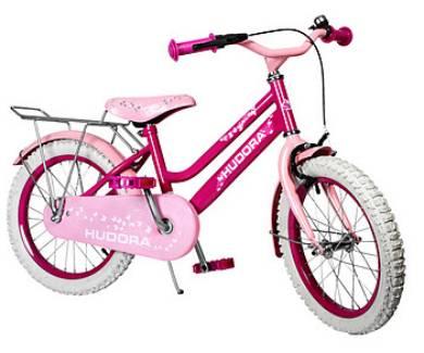 lagerr umung hudora kinder fahrrad 16 zoll in pink. Black Bedroom Furniture Sets. Home Design Ideas