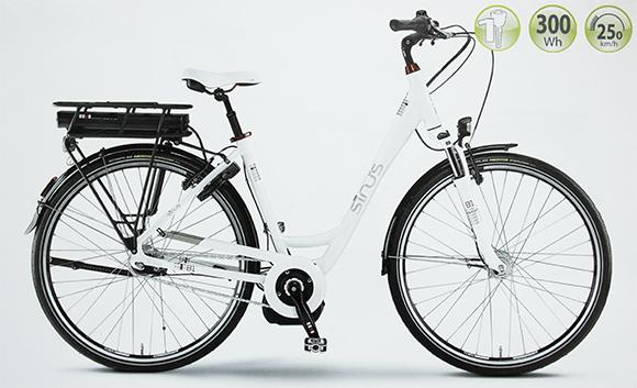 staiger ebike e bike sinus b1 rh46 einrohr 28 bosch 300wh. Black Bedroom Furniture Sets. Home Design Ideas