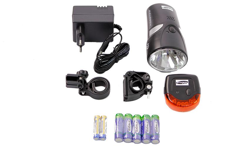 ideale fahrradbeleuchtung halogen set uvp 29 99 batterie licht set fahrradlicht ebay. Black Bedroom Furniture Sets. Home Design Ideas