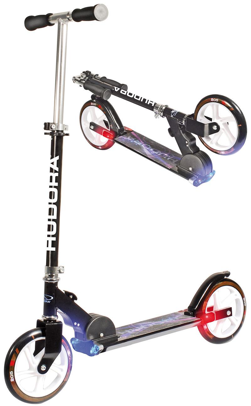 sol vorrat hudora big wheel hornet 205 roller scooter cityroller mit licht neu ebay. Black Bedroom Furniture Sets. Home Design Ideas