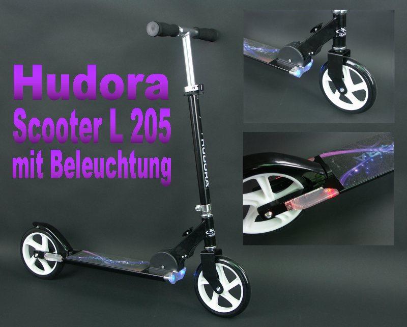 hudora big wheel light 205 scooter tret roller. Black Bedroom Furniture Sets. Home Design Ideas