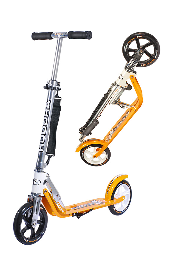 hudora big wheel 205 roller scooter orange wei 14708 ebay. Black Bedroom Furniture Sets. Home Design Ideas