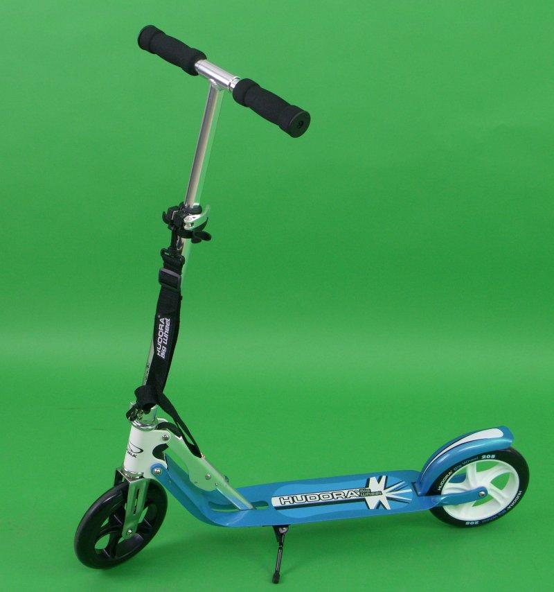 hudora big wheel 205 roller scooter blau wei 14709 ebay. Black Bedroom Furniture Sets. Home Design Ideas