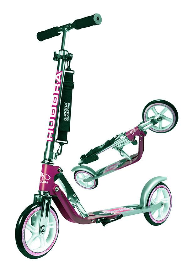 hudora big wheel 205 magenta silber scooter roller. Black Bedroom Furniture Sets. Home Design Ideas
