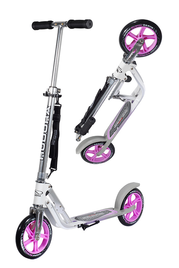 new hudora big wheel 205 roller scooter pink silver 14773 ebay. Black Bedroom Furniture Sets. Home Design Ideas