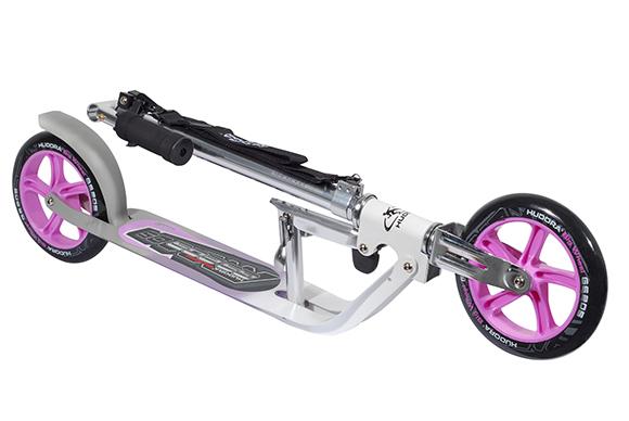 new hudora big wheel 205 roller scooter pink silver 14773. Black Bedroom Furniture Sets. Home Design Ideas