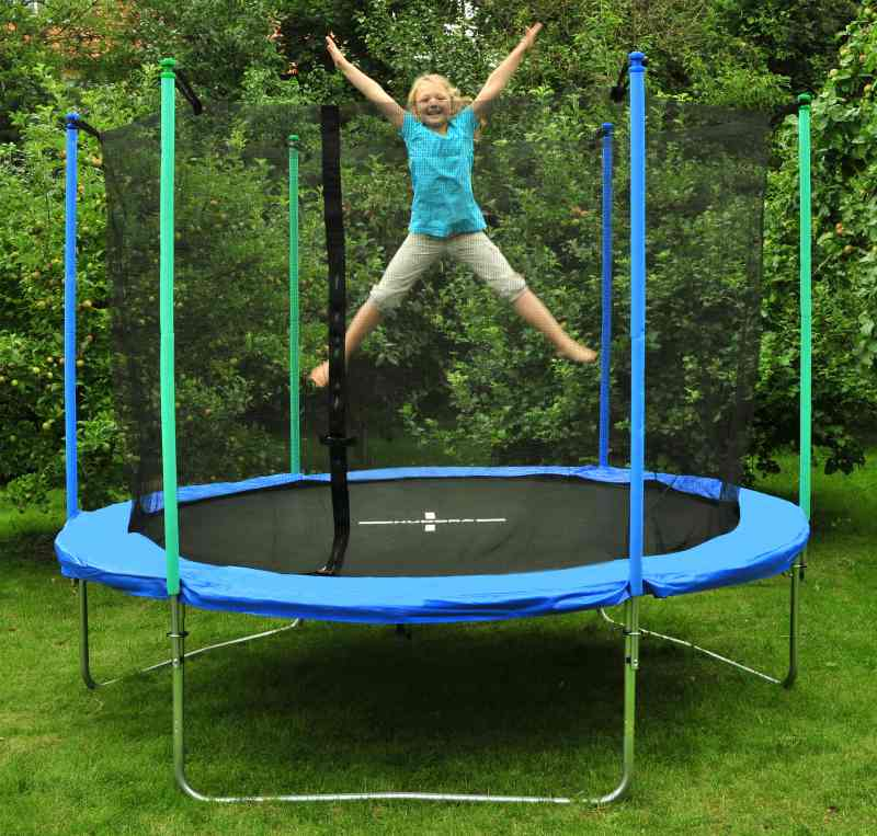 modell 2012 bis 180 kg hudora trampolin 305 cm blau incl netz t v gs ebay. Black Bedroom Furniture Sets. Home Design Ideas