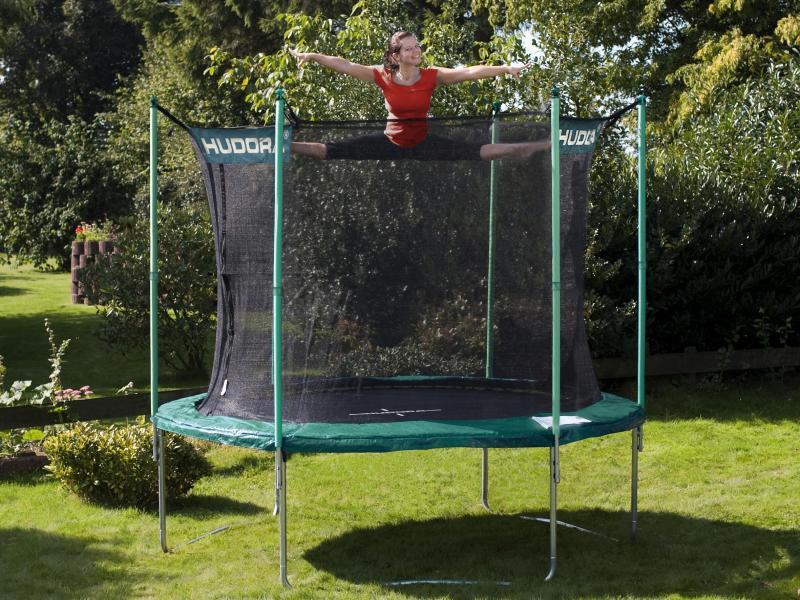 modell 12 bis 220 kg incl netz hudora trampolin 305 cm. Black Bedroom Furniture Sets. Home Design Ideas