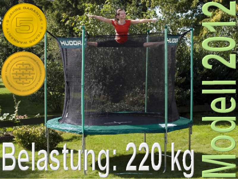 modell 12 bis 220 kg incl netz hudora trampolin 305 cm t v gs 5 j garantie ebay. Black Bedroom Furniture Sets. Home Design Ideas