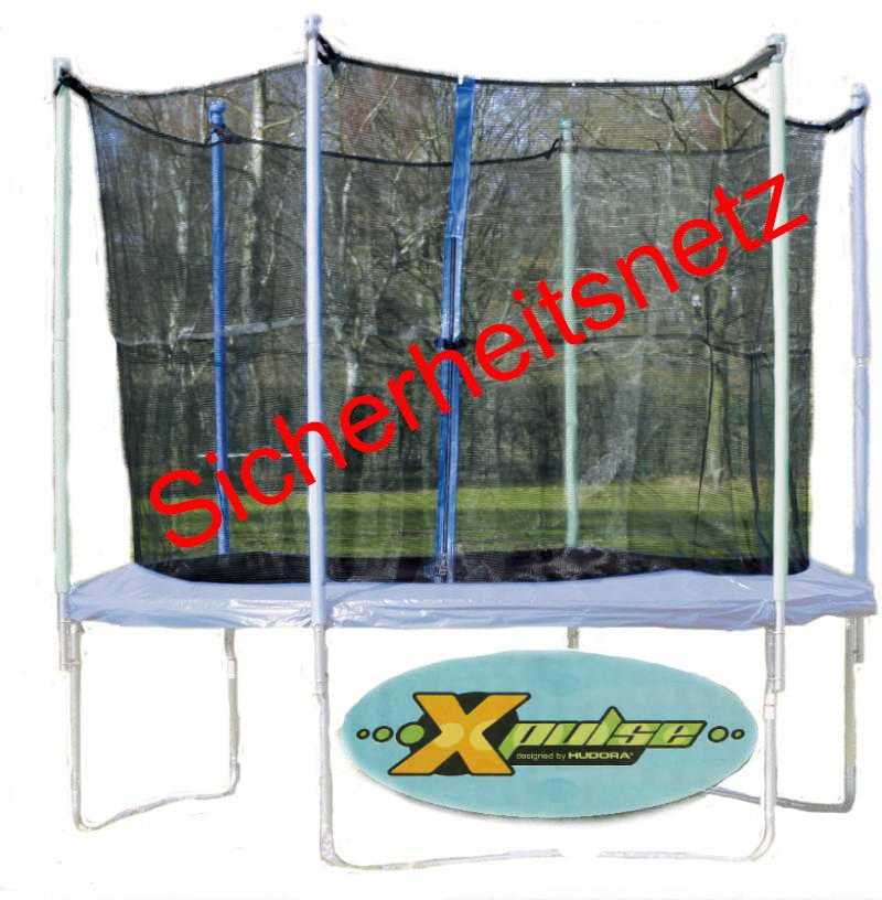 hudora x pulse sicherheitsnetz f r trampolin 200 netz trampolinnetz neu ovp ebay. Black Bedroom Furniture Sets. Home Design Ideas