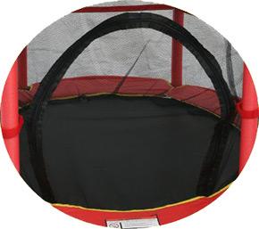 monz kinder trampolin 140cm mit sicherheitsnetz kindertrampolin. Black Bedroom Furniture Sets. Home Design Ideas