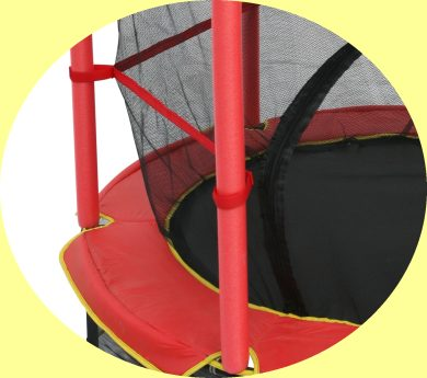 monz kinder trampolin 140cm mit sicherheitsnetz kindertrampolin ebay. Black Bedroom Furniture Sets. Home Design Ideas