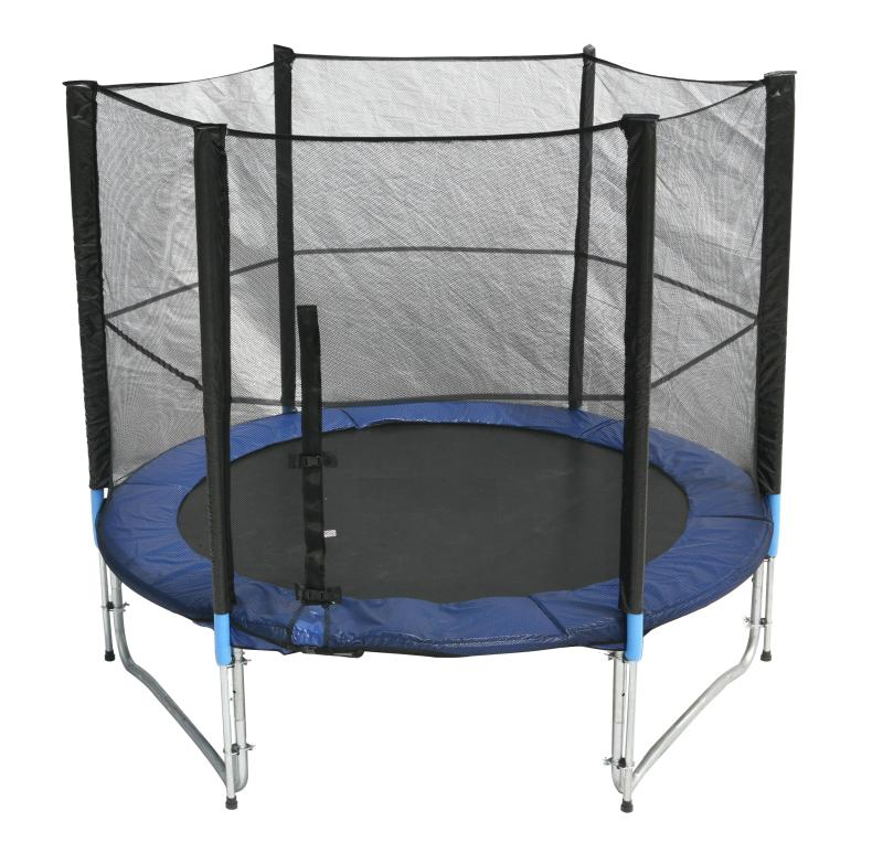 ideale trampolin 244 cm incl sicherheitsnetz 150 kg ebay. Black Bedroom Furniture Sets. Home Design Ideas