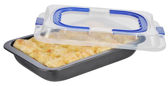 kuchenbackform kuchenbox kuchenform kuchenplatte 2 in 1 mit deckel kuchenbutler ebay. Black Bedroom Furniture Sets. Home Design Ideas