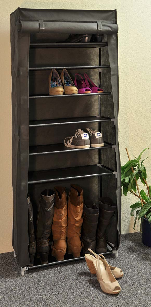 schuhregal mit 7 ablagen schuhschrank f r max 40 paar schuhe schuhablage ablage ebay. Black Bedroom Furniture Sets. Home Design Ideas