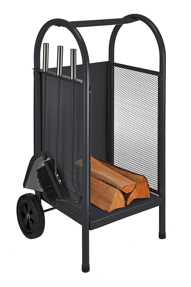 luxus kaminholzwagen kamin holzwagen trolley holz. Black Bedroom Furniture Sets. Home Design Ideas
