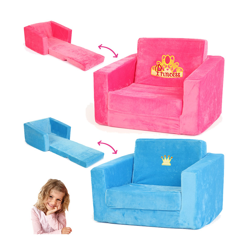 bayer design kindersessel schlafsofa sessel liegesofa blau oder rosa f r kinder ebay. Black Bedroom Furniture Sets. Home Design Ideas